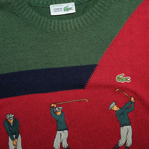 Vintage Lacoste Knit Sweater Large
