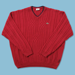 Vintage Lacoste V-Neck Sweater Large