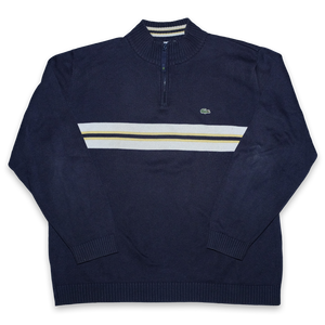 Vintage Lacoste Q-Zip Sweater Large