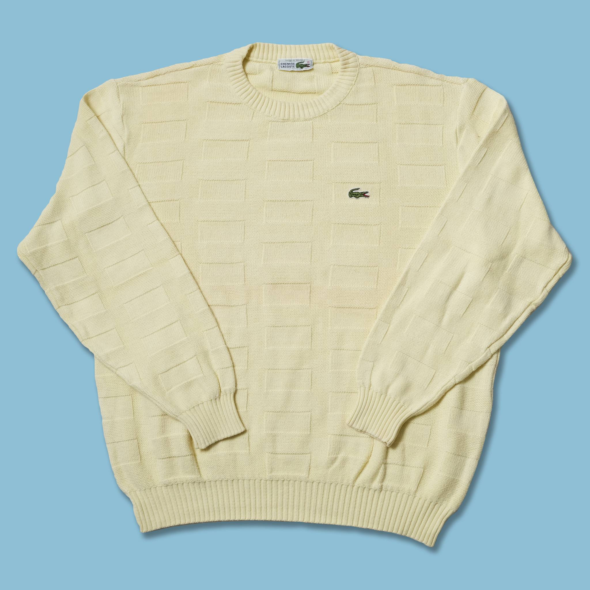 Vintage Lacoste Knit Sweater Small / Medium