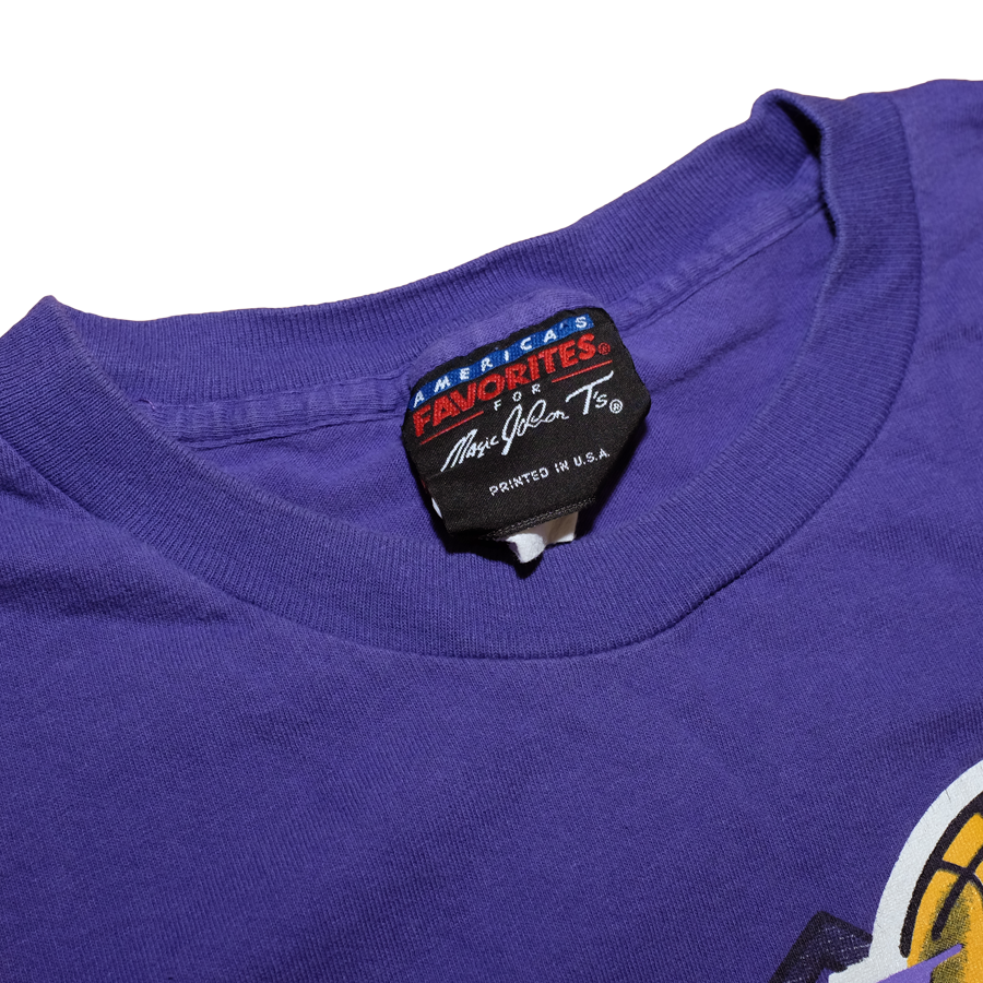 Vintage 90s Los Angeles Lakers T-Shirt by America's Favorites / Magic Johnson T's