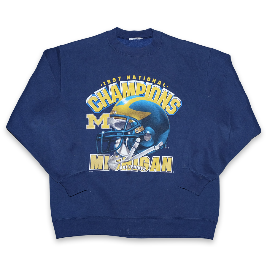 Vintage Michigan Wolverines 1997 Sweater Large