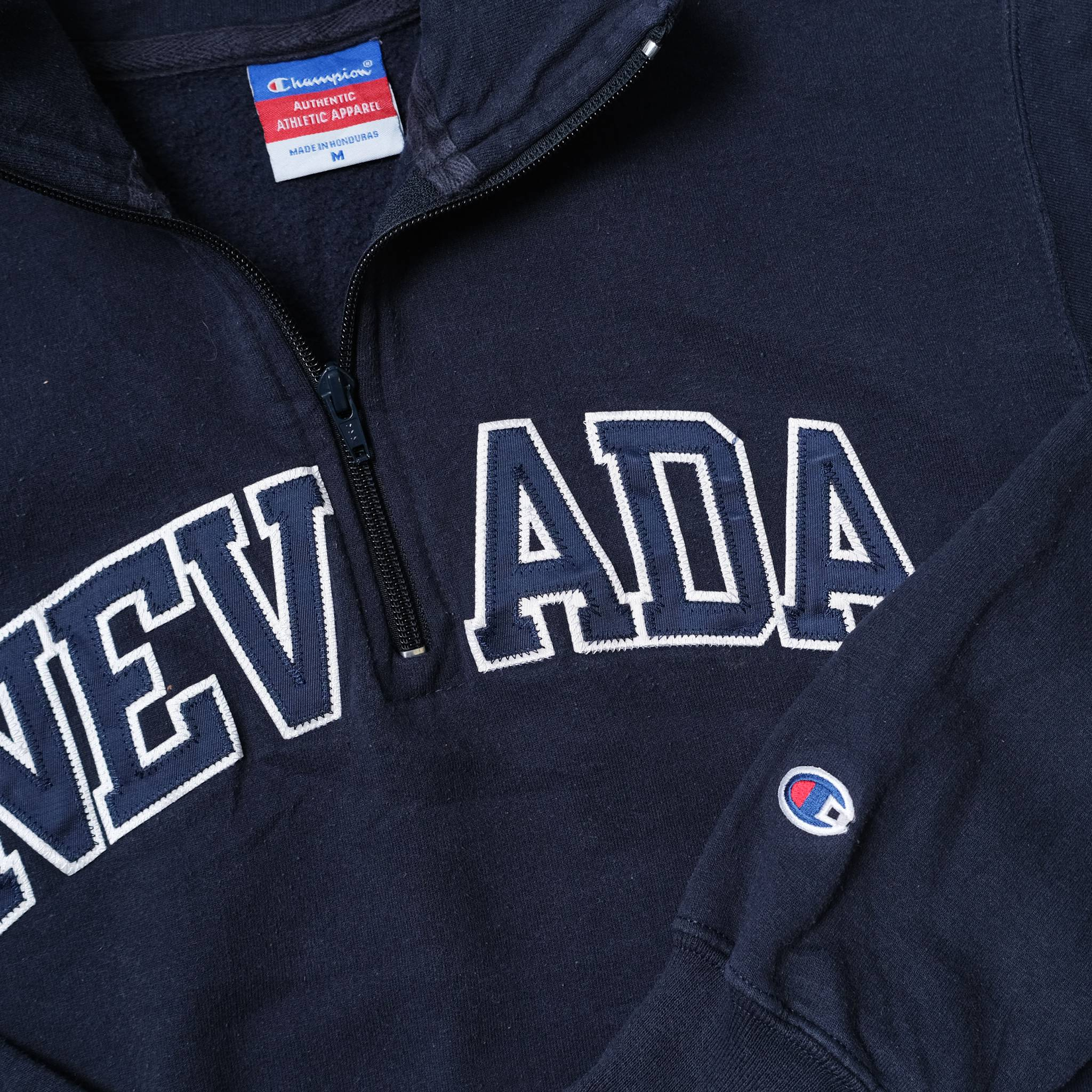 Vintage Champion Nevada Q-Zip Sweater Medium