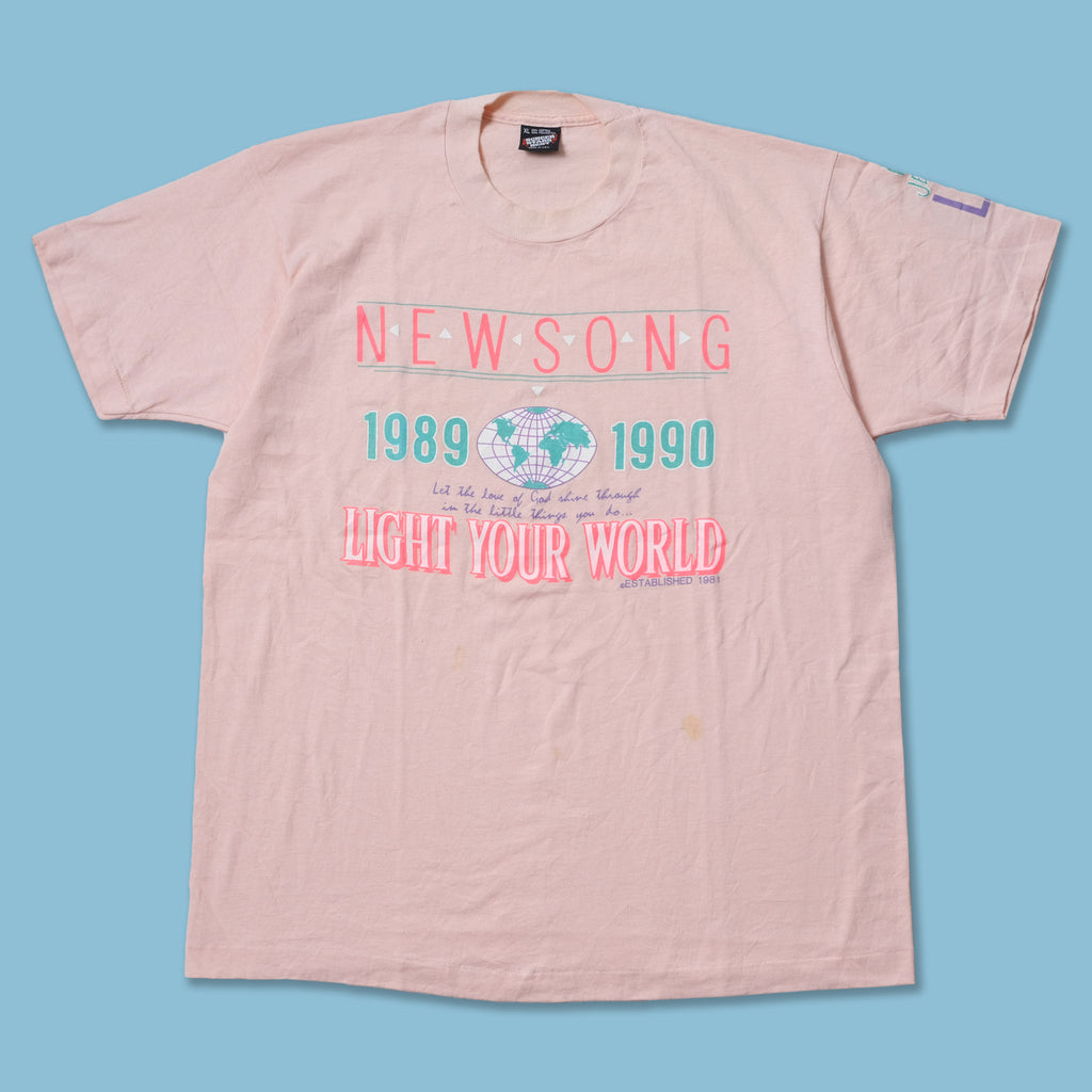 Vintage 1990 NewSong Light Your World T-Shirt Large / XLarge