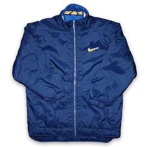 Vintage Nike Coat  Condition: Great   Size: L   Swoosh Embroidery on chest — Vintage Klamotten online kaufen bei Double Double Vintage / Retro Style / 90er Looks