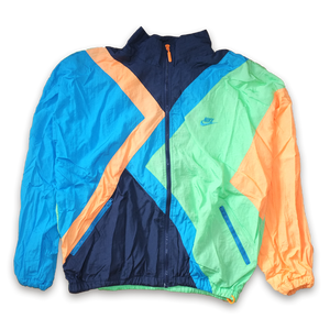 Vintage Nike Color Blocking Windbreaker Track Jacket / Very rare to find — Vintage Klamotten online kaufen bei Double Double Vintage / Retro Style / 90er Looks — Versand aus Deutschland / Shipping Worldwide