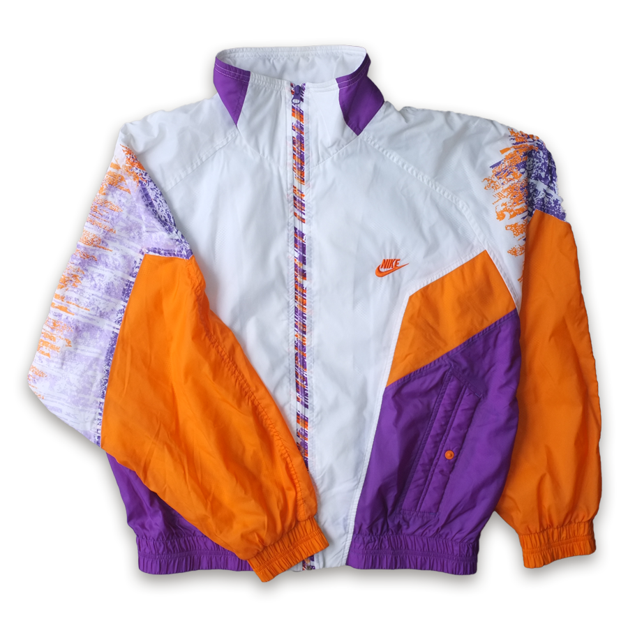 Vintage Nike Windbreaker Track Jacket / crazy colorway / rare to find — Vintage Klamotten online kaufen bei Double Double Vintage / Retro Style / 90er Looks — Versand aus Deutschland / Shipping Worldwide