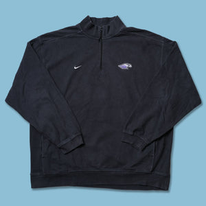 Vintage Nike Baltimore Raves Q-Zip Sweater XLarge / XXL