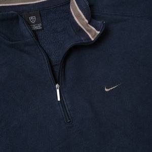 Vintage Nike Mini Swoosh Q-Zip Sweater Large / XLarge