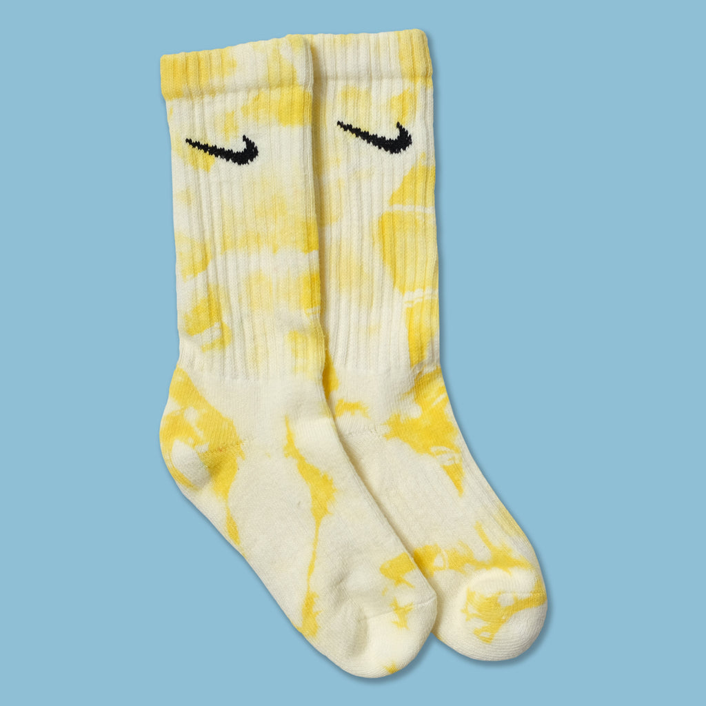 Nike Tie Dye Socks Yellow