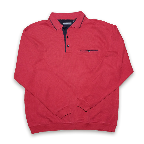 Vintage Polo Shirt Longsleeve Red