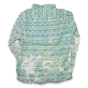 Vintage Aztec Shirt Bleach Green/Beige