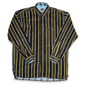 Vintage Corduroy Striped Shirt XLarge