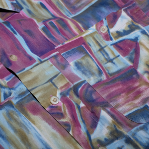 Vintage Abstract Shirt Large - Double Double Vintage