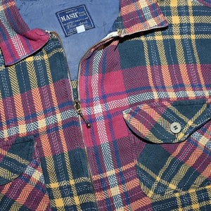 Vintage Flannell Zip Shirt Large