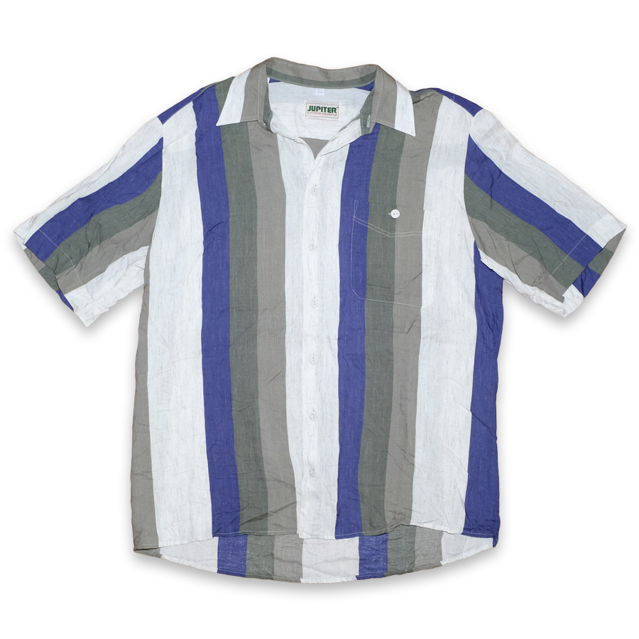 Vintage Vertical Striped Shirt Large