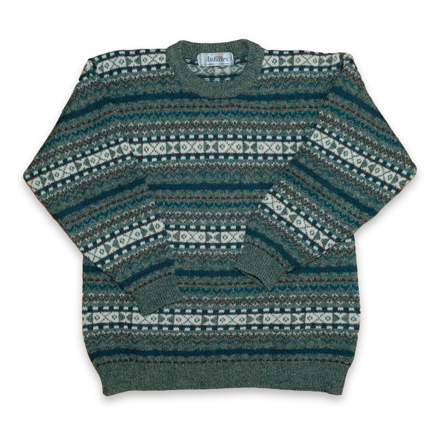 Vintage Knit Wool Sweatshirt Small
