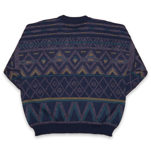 Vintage Knit Sweatshirt Large