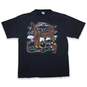 Vintage Eagle Print T-Shirt / From 1991 / California Casuals