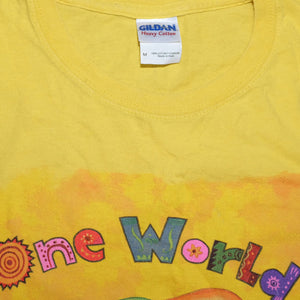 One World Many Stories T-Shirt Medium - Double Double Vintage