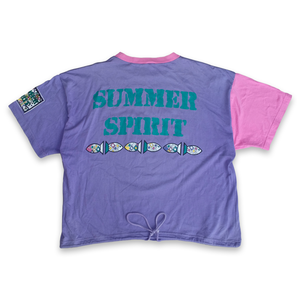 Vintage Summer Spirit Print T-Shirt Multicolor