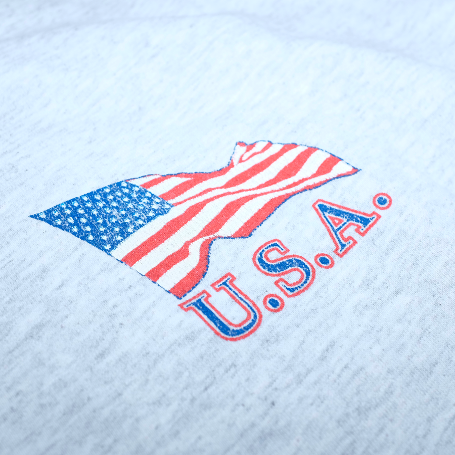 Vintage USA Eagle Print T-Shirt Grey