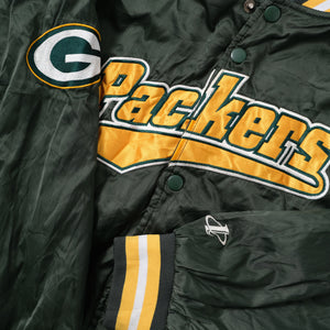 Vintage Greenbay Packers Satin Bomber Jacket Large