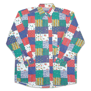 Vintage Square Pattern Shirt
