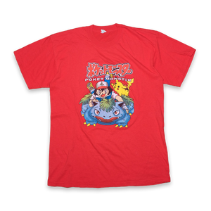 Vintage Pokemon Poket Monster T-Shirt Red — Vintage Klamotten online kaufen bei Double Double Vintage / Retro Style / 90er Looks — Versand aus Deutschland / Shipping Worldwide