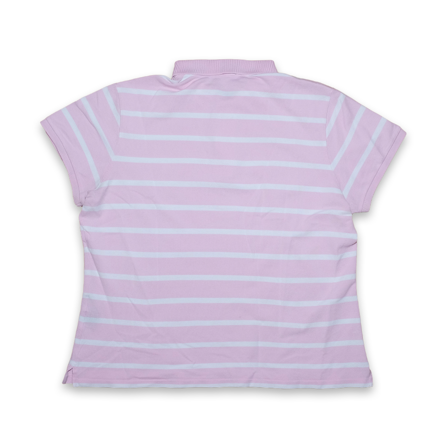 Women Ralph Lauren Striped Poloshirt Pink/White