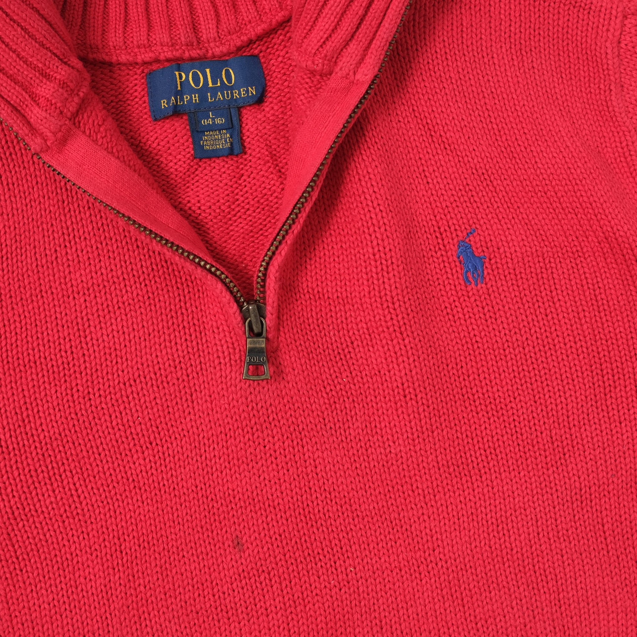 Vintage Polo Ralph Lauren Women's Q-Zip Sweater Small