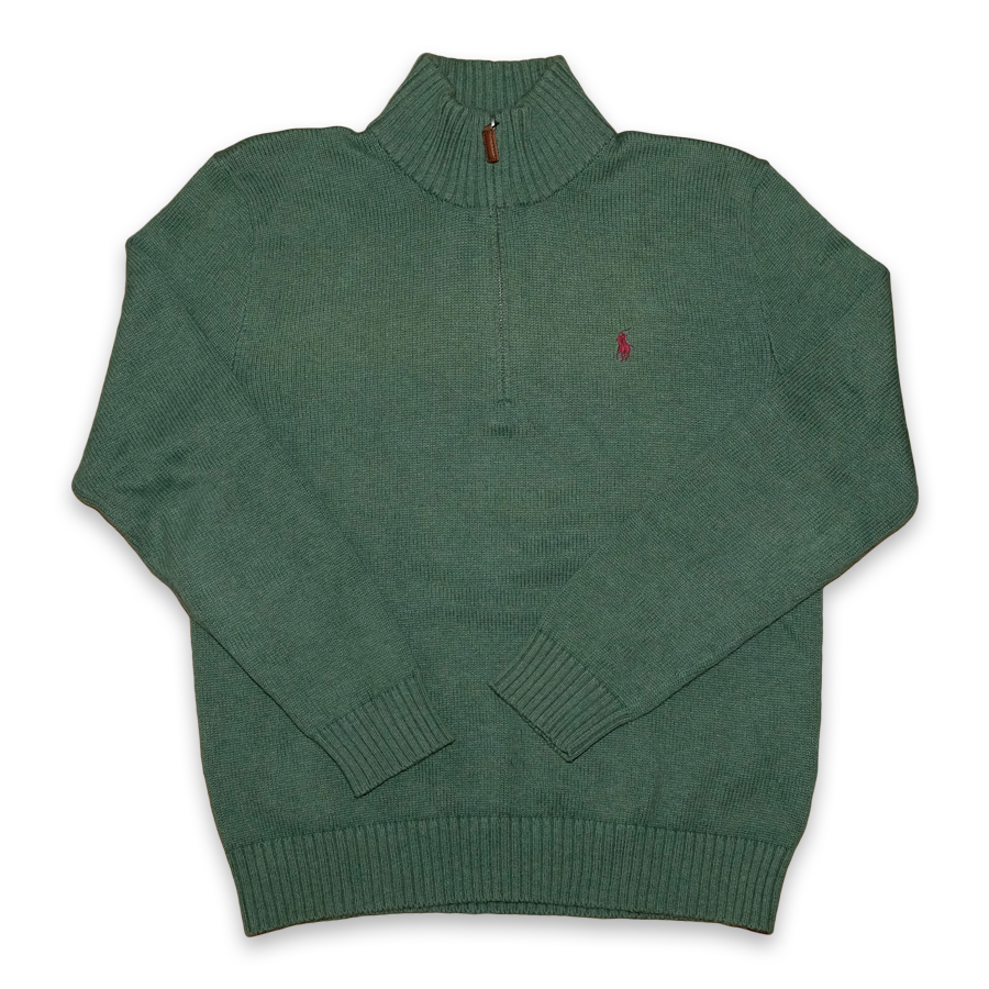 Vintage Polo Ralph Lauren Half Zip Sweatshirt Green