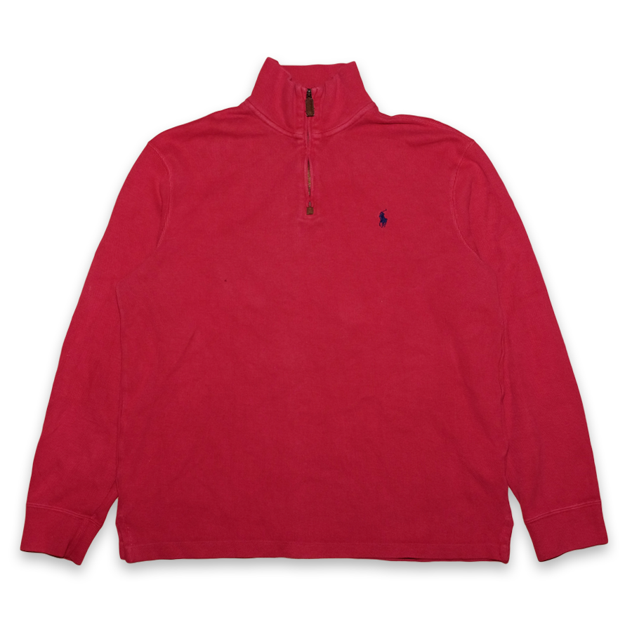 Vintage Polo Ralph Lauren Q-Zip Sweatshirt Medium - Double Double Vintage