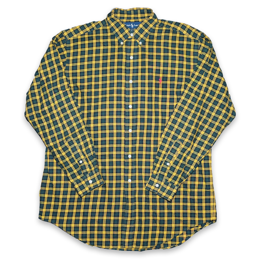 Vintage Polo Ralph Lauren Light Flannell Shirt Large / XLarge
