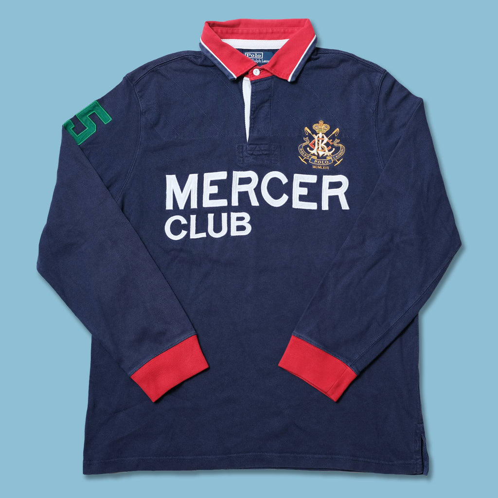 Vintage Polo Ralph Lauren Mercer Club Long Polo Large