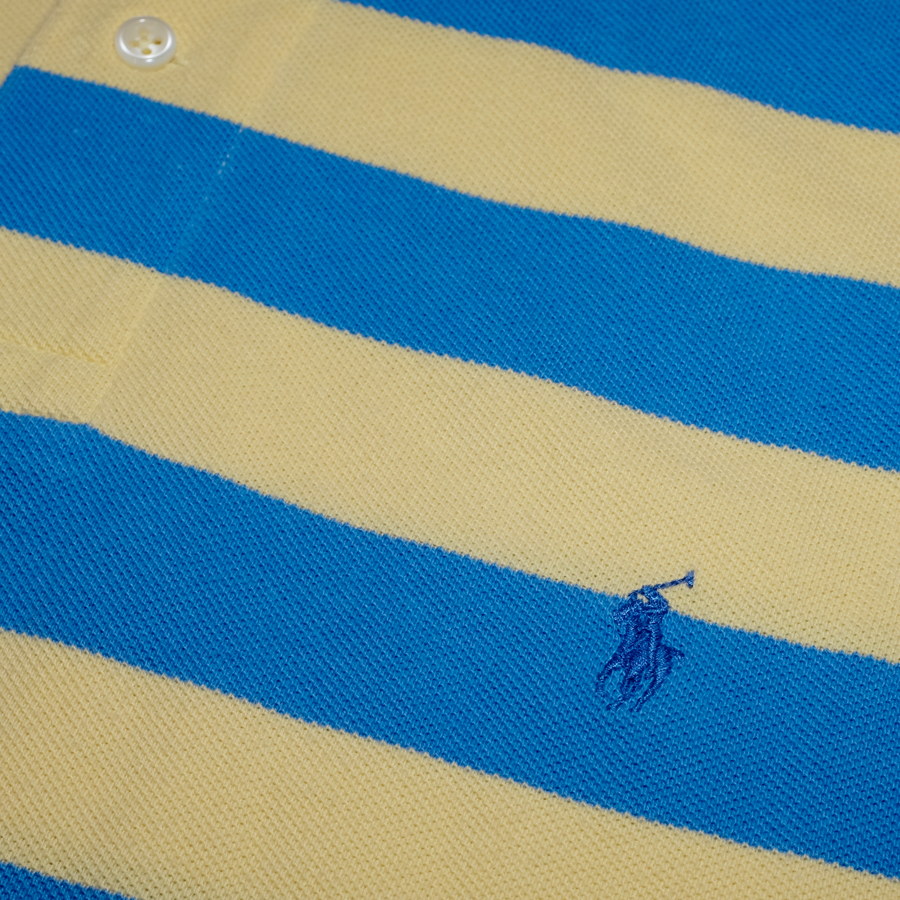 Yellow/Blue Striped Polo Ralph Lauren Poloshirt