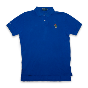Vintage Polo Ralph Lauren Polo Bear Polo Shirt Blue