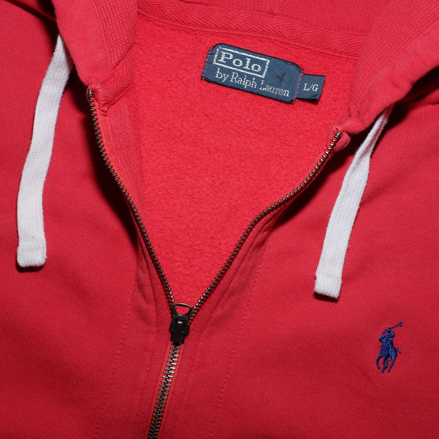 Vintage Polo Ralph Lauren Zip Hoodie with Iconic Chest Logo / Lovely Quality
