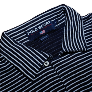 Polo Sport Ralph Lauren Striped Poloshirt Navy/White