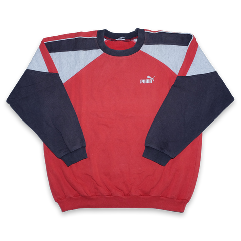 Vintage Puma Color Blocking Logo Sweater