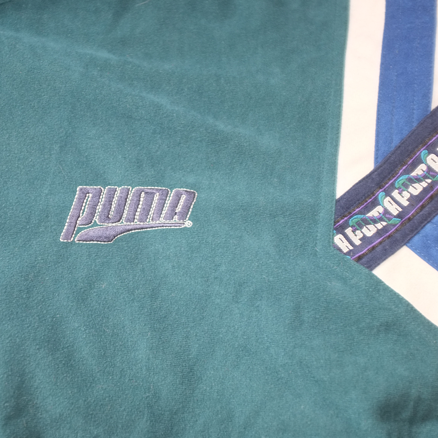 Rare Puma Velour Trackjacket Large