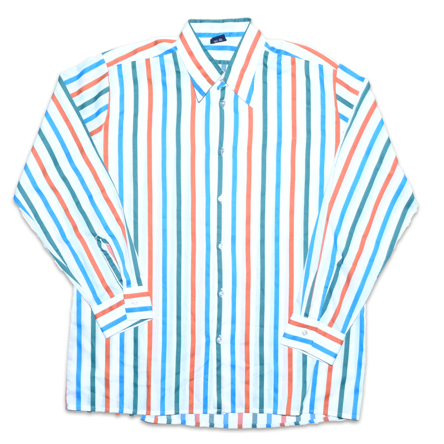 Vintage Vertical Stripes Shirt XLarge