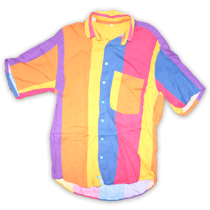 Vintage Stripe Multicolor Shirt   Condition: Great  Size: L