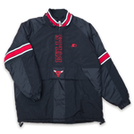 Starter Chicago Bulls Half Zip Anorak Large