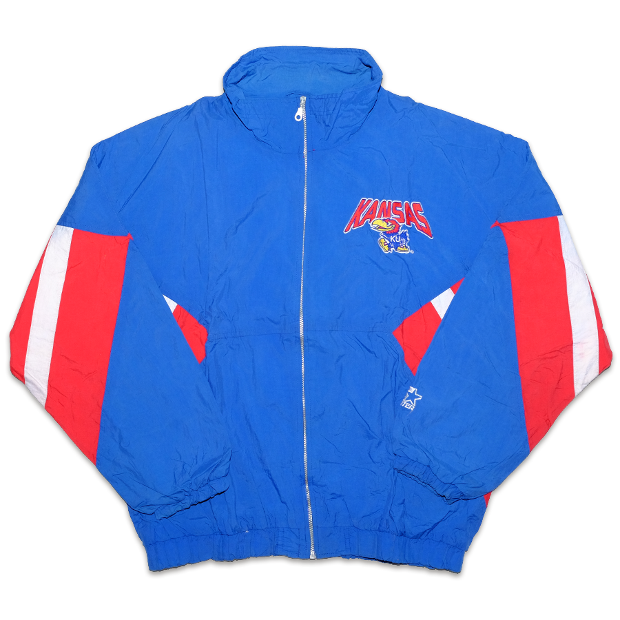 Vintage Starter University of Kansas Jacket XLarge
