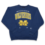 Vintage Starter Michigan Wolverines Sweatshirt / made in USA / Fire Logo Details and Quality