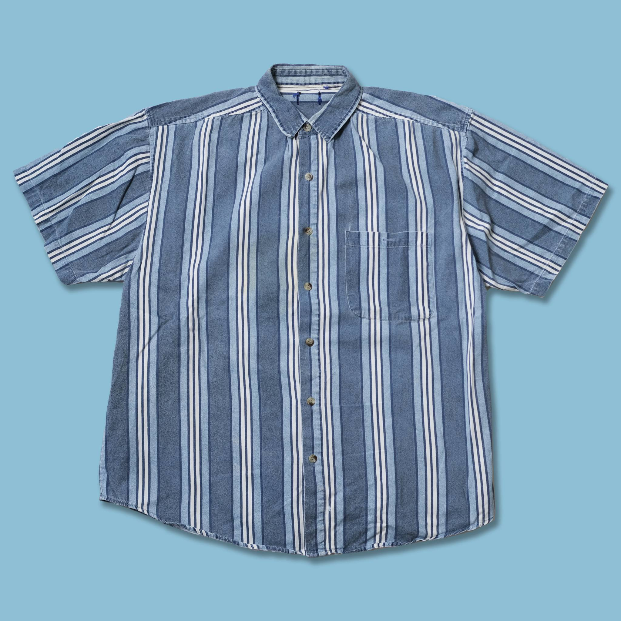 Vintage Vertical Striped Shirt XLarge