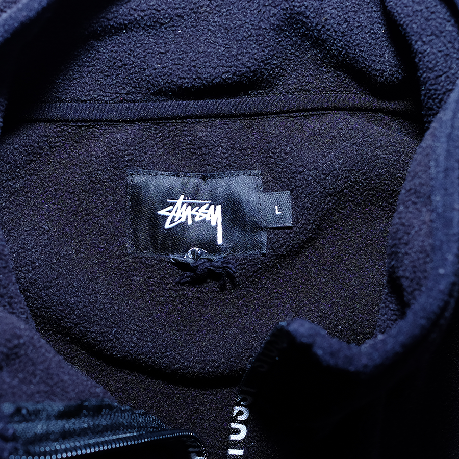 Stussy Q-Zip Fleece Large - Double Double Vintage