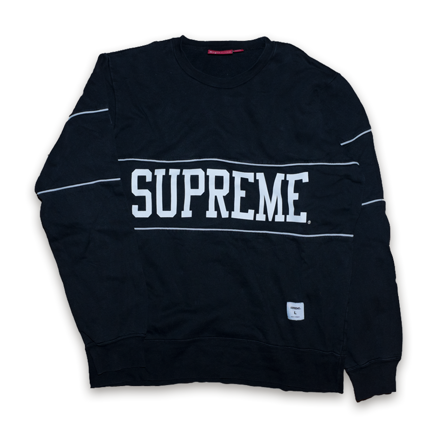 Supreme College Crewneck Sweatshirt Spring/Summer 2011 Collection — Vintage Klamotten online kaufen bei Double Double Vintage / Retro Style / 90er Looks — Versand aus Deutschland / Shipping Worldwide