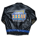 Vintage Super Bowl 1999 Miami Leather Jacket Large / XLarge